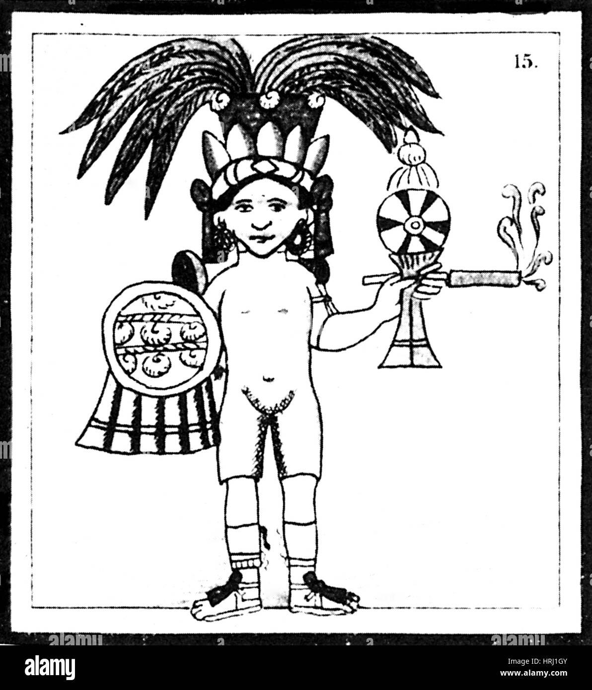 Tobacco In Aztec Ritual, Florentine Codex - Stock Image