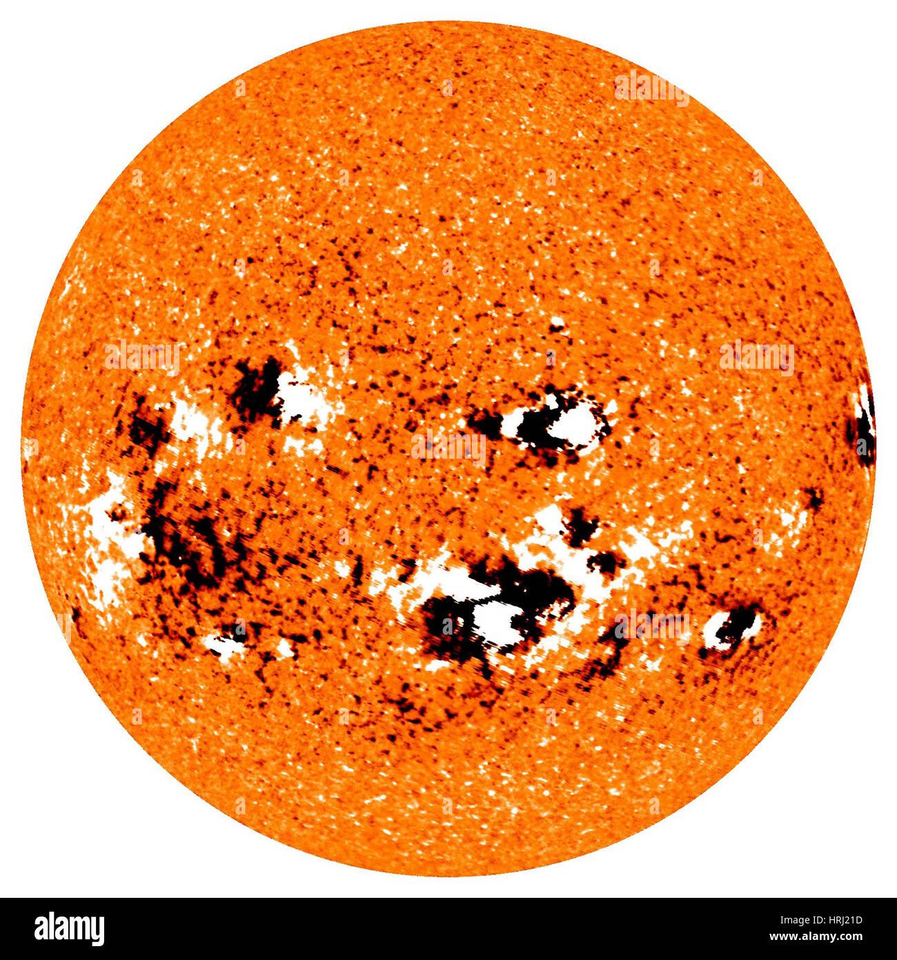 Solar Storm Activity, 2009 Stock Photo