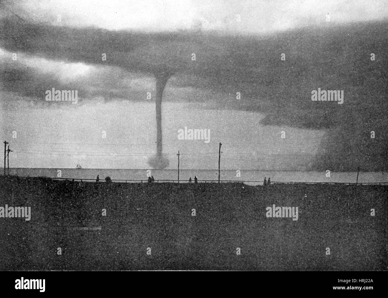 Waterspout, 1896 - Stock Image