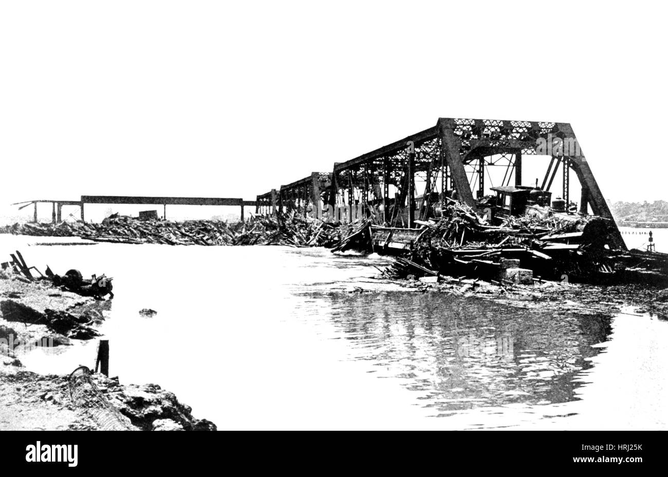 Flood Damage, 1903 - Stock Image