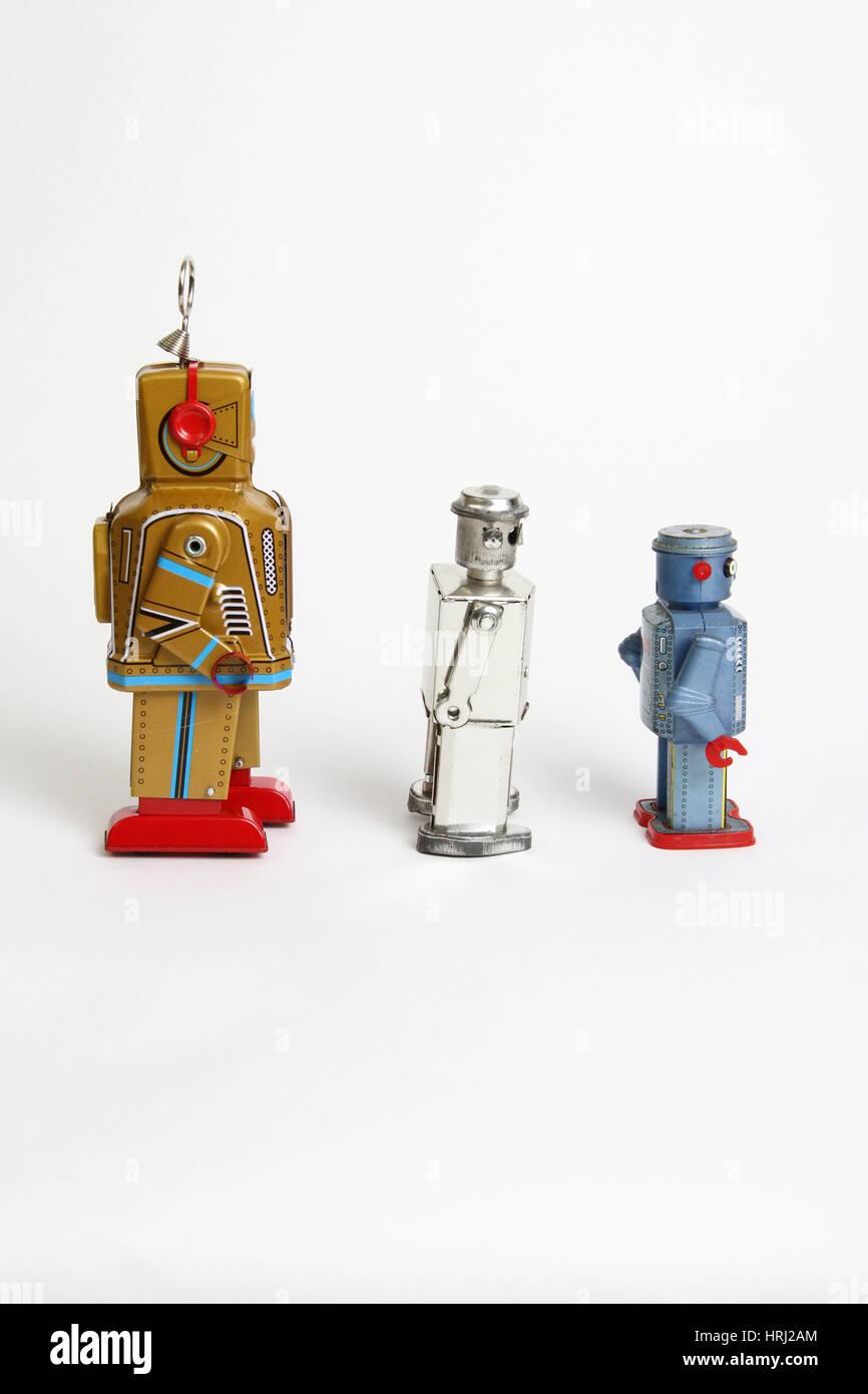 Toy robots - Stock Image