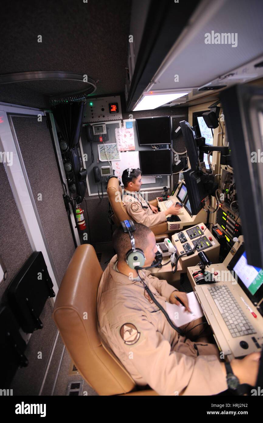 MQ-9 Reaper Ground Control Station - Stock Image