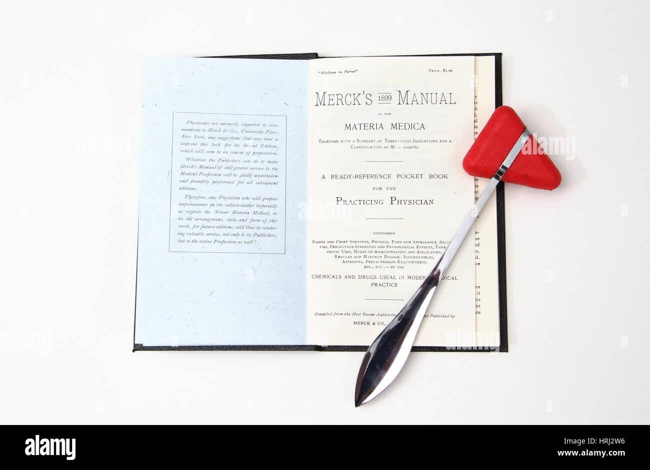 1899 Merck's Manual and Medical Equipment