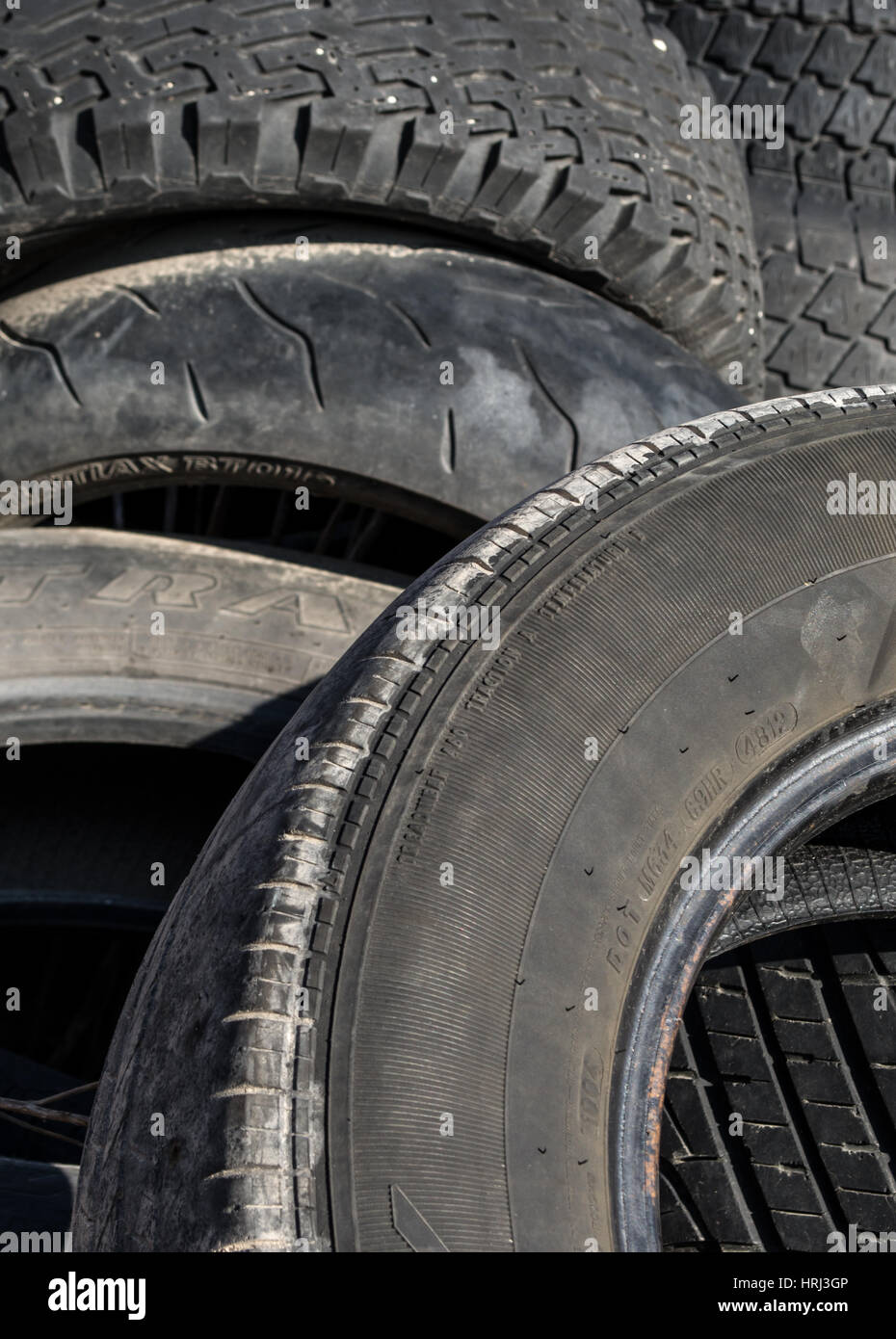 Used tire/tyre pile. - Stock Image