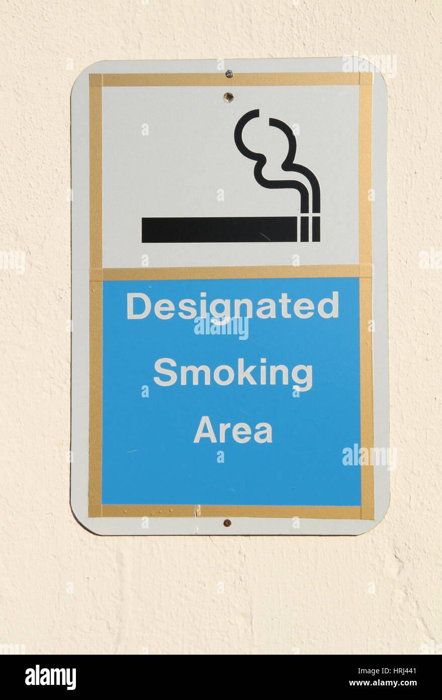 Designated Smoking Area - Stock Image