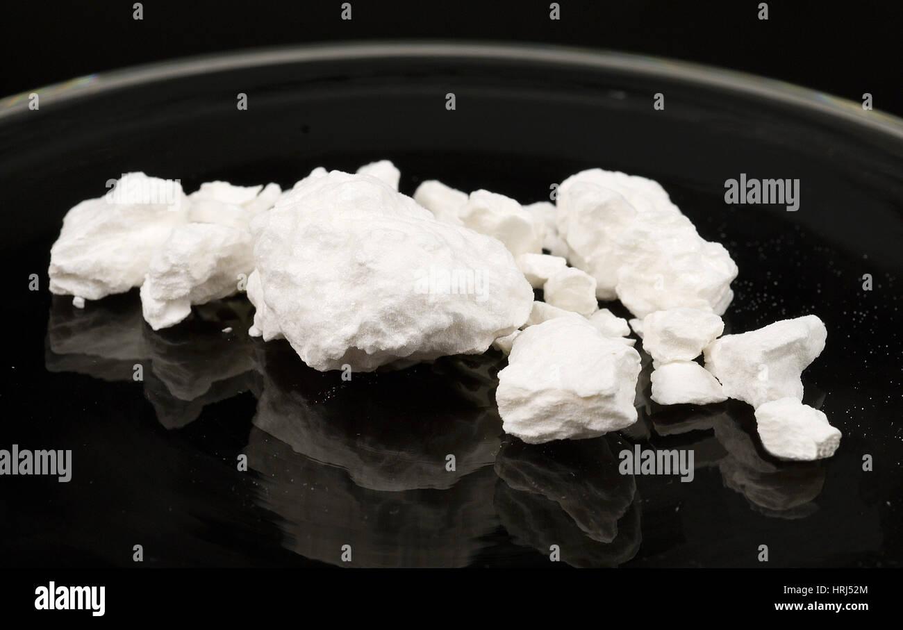 Compressed Cocaine Powder - Stock Image