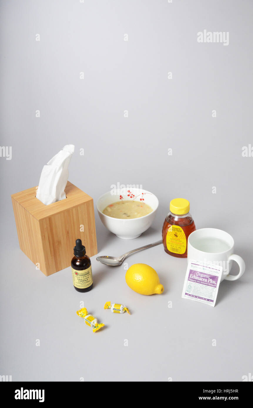 Cold and Flu Remedies - Stock Image
