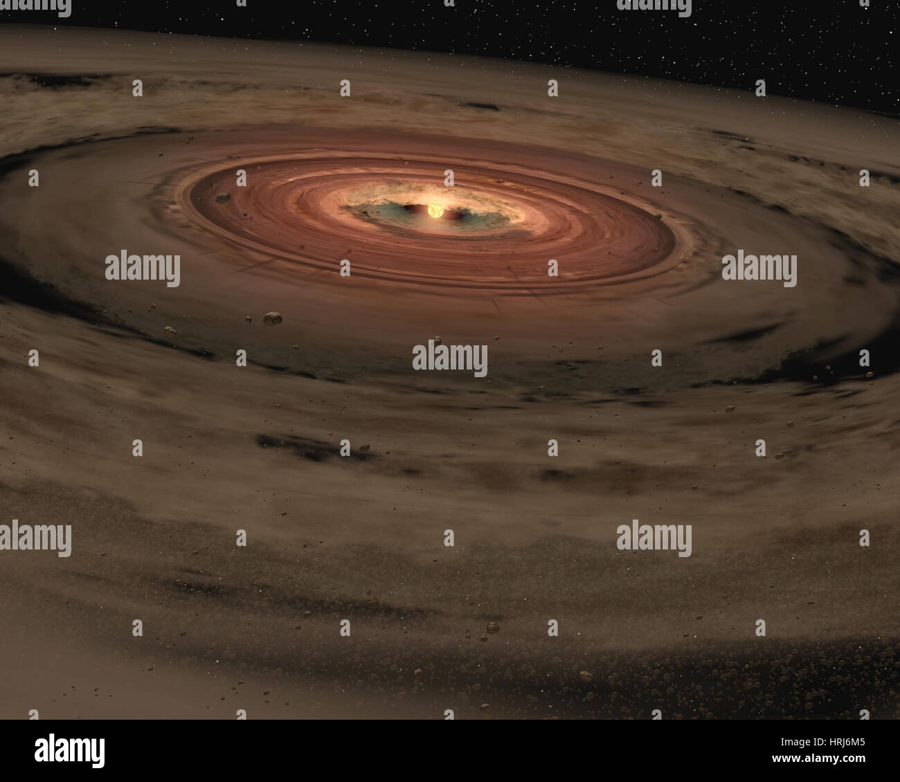 OTS 44, Brown Dwarf, Birth of an Unusual Planetary System - Stock Image