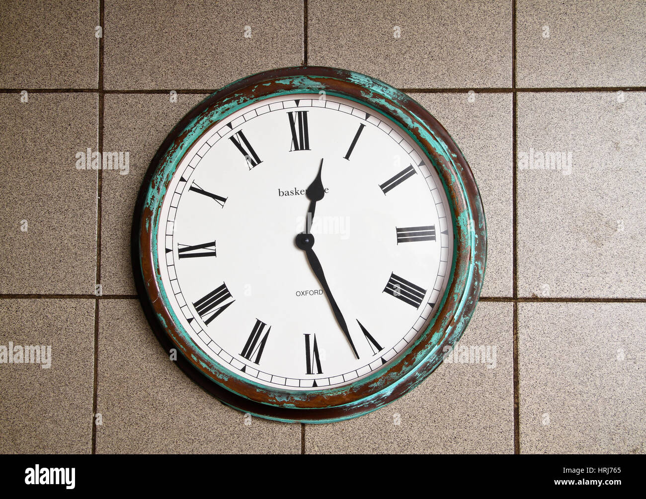Clock with Roman Numerals - Stock Image