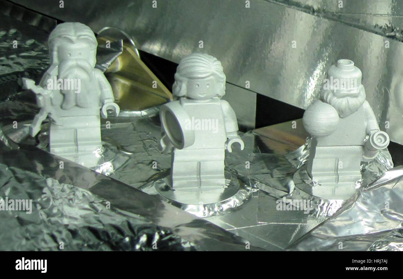 LEGO Figurines Aboard Juno - Stock Image