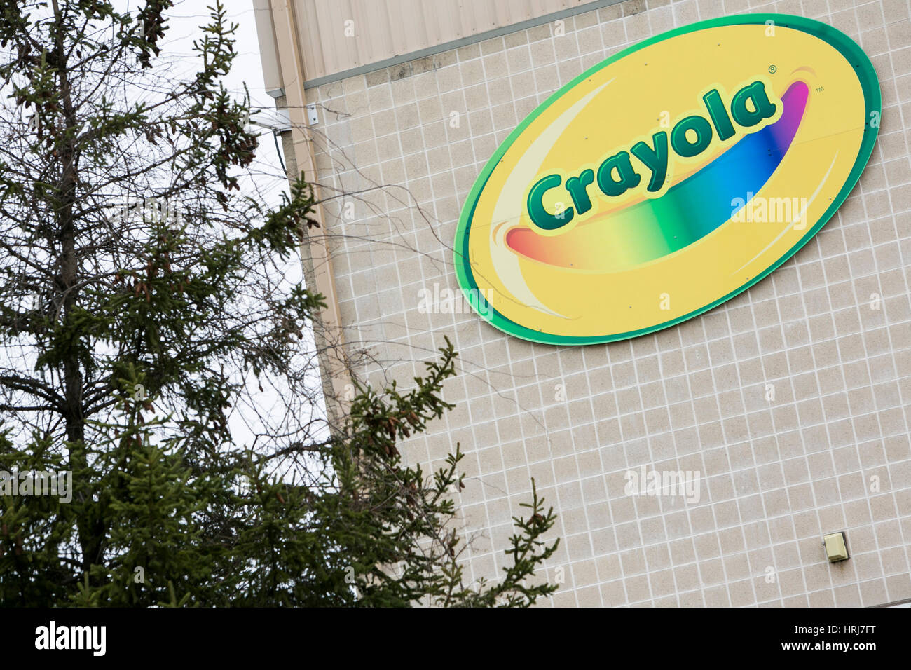 A logo sign outside of a facility occupied by Crayola in Bethlehem ...