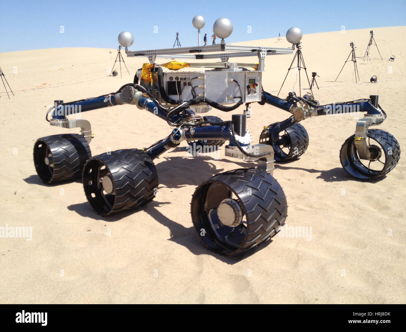 Test Rover Aids Preparations for Curiosity Rover - Stock Image