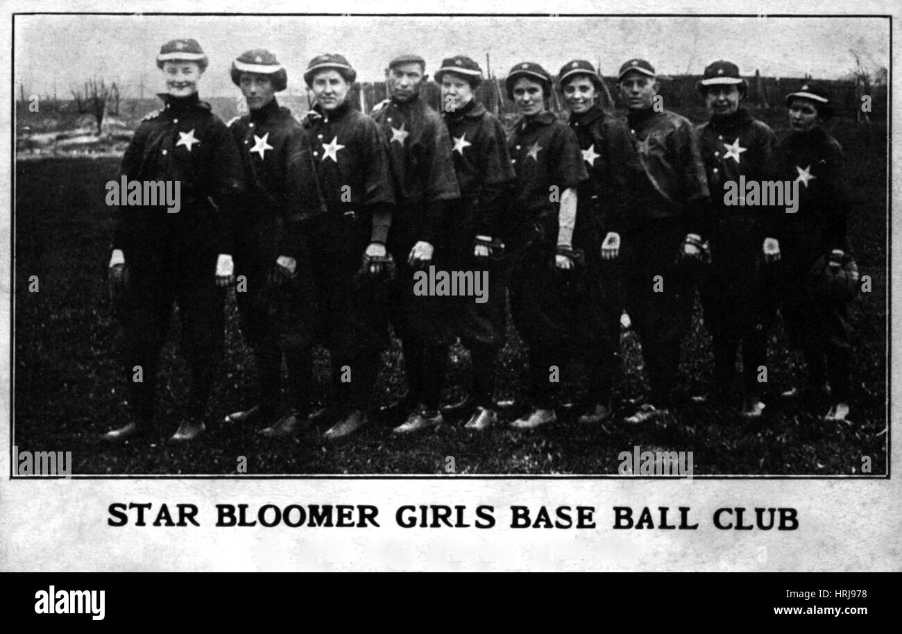 Star Bloomer Girls Baseball Club, 1905 - Stock Image