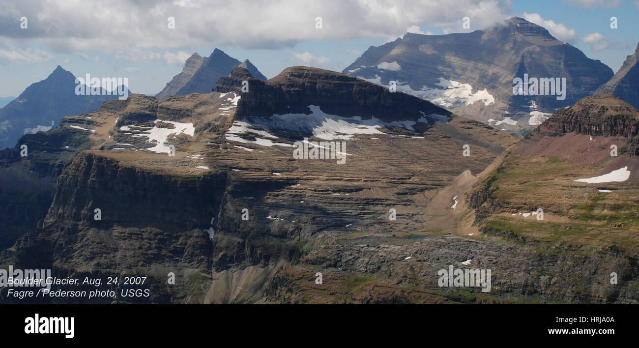 Boulder Glacier, Glacier NP, 2007 - Stock Image