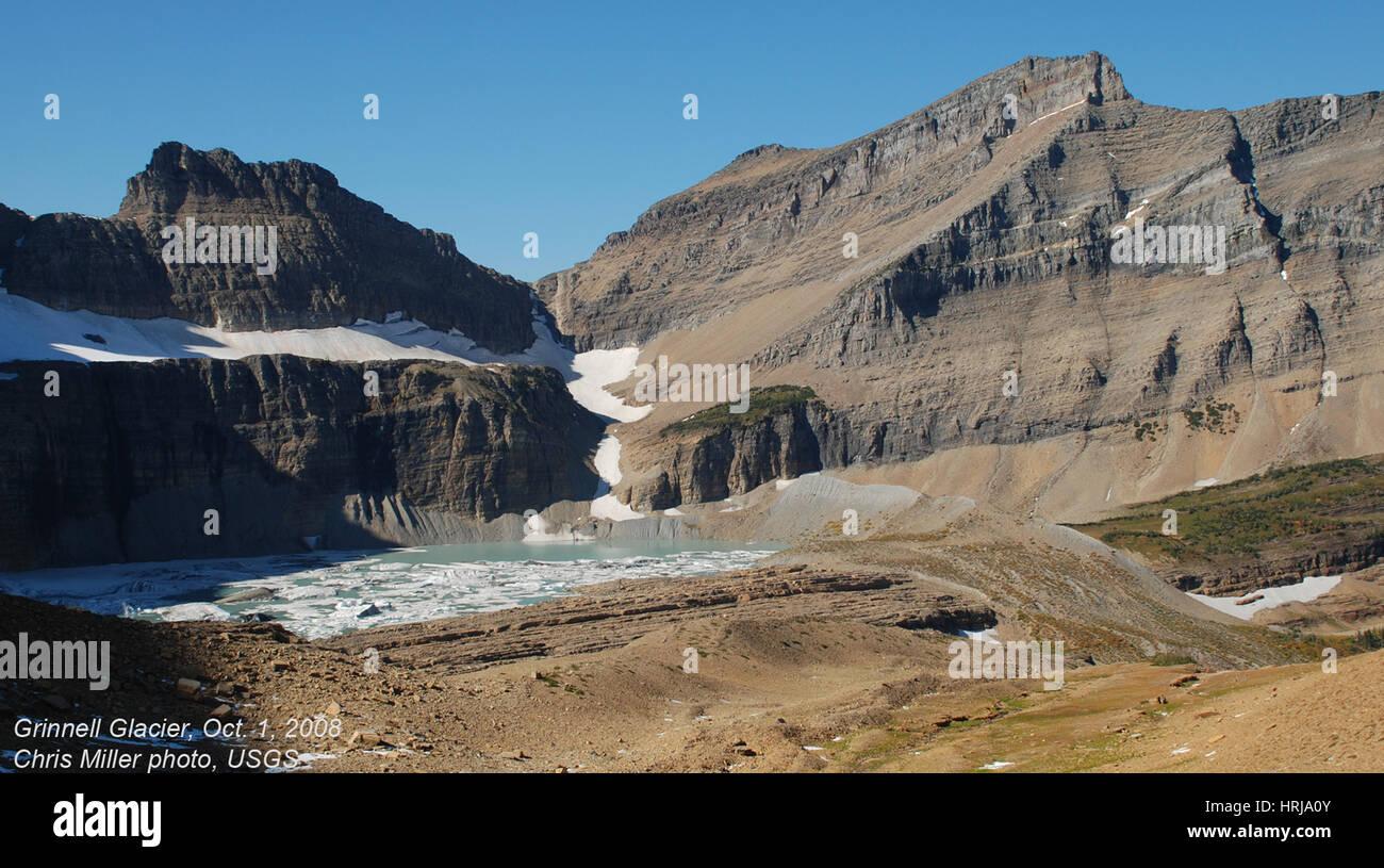Grinnell Glacier, Glacier NP, 2008 - Stock Image
