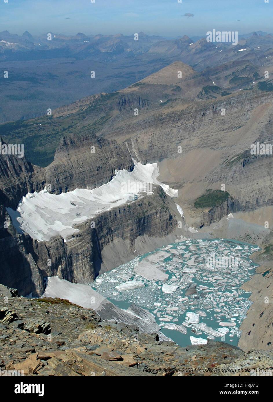 Grinnell Glacier, Glacier NP, 2009 - Stock Image