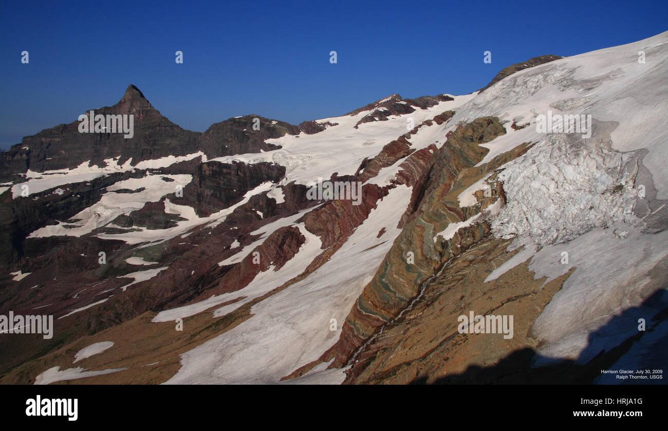 Harrison Glacier, Glacier NP, 2009 - Stock Image
