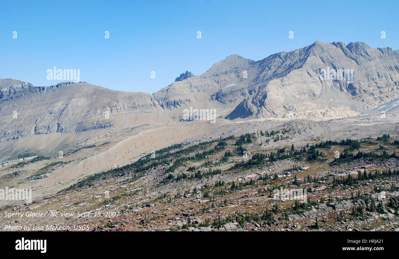 Sperry Glacier, Glacier NP, 2007 - Stock Image