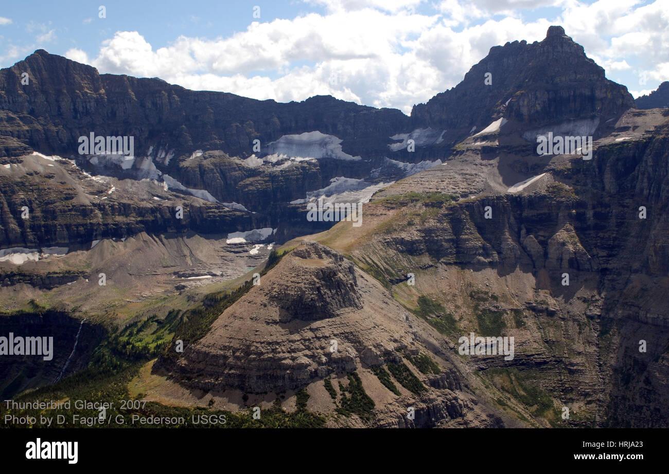 Thunderbird Glacier, Glacier NP, 2007 - Stock Image
