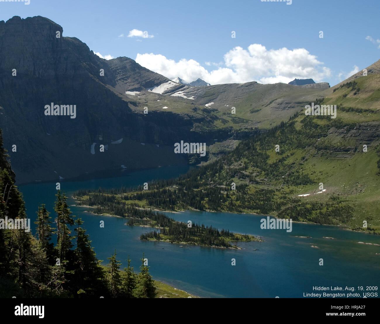 Hidden Lake, Glacier NP, 2009 - Stock Image