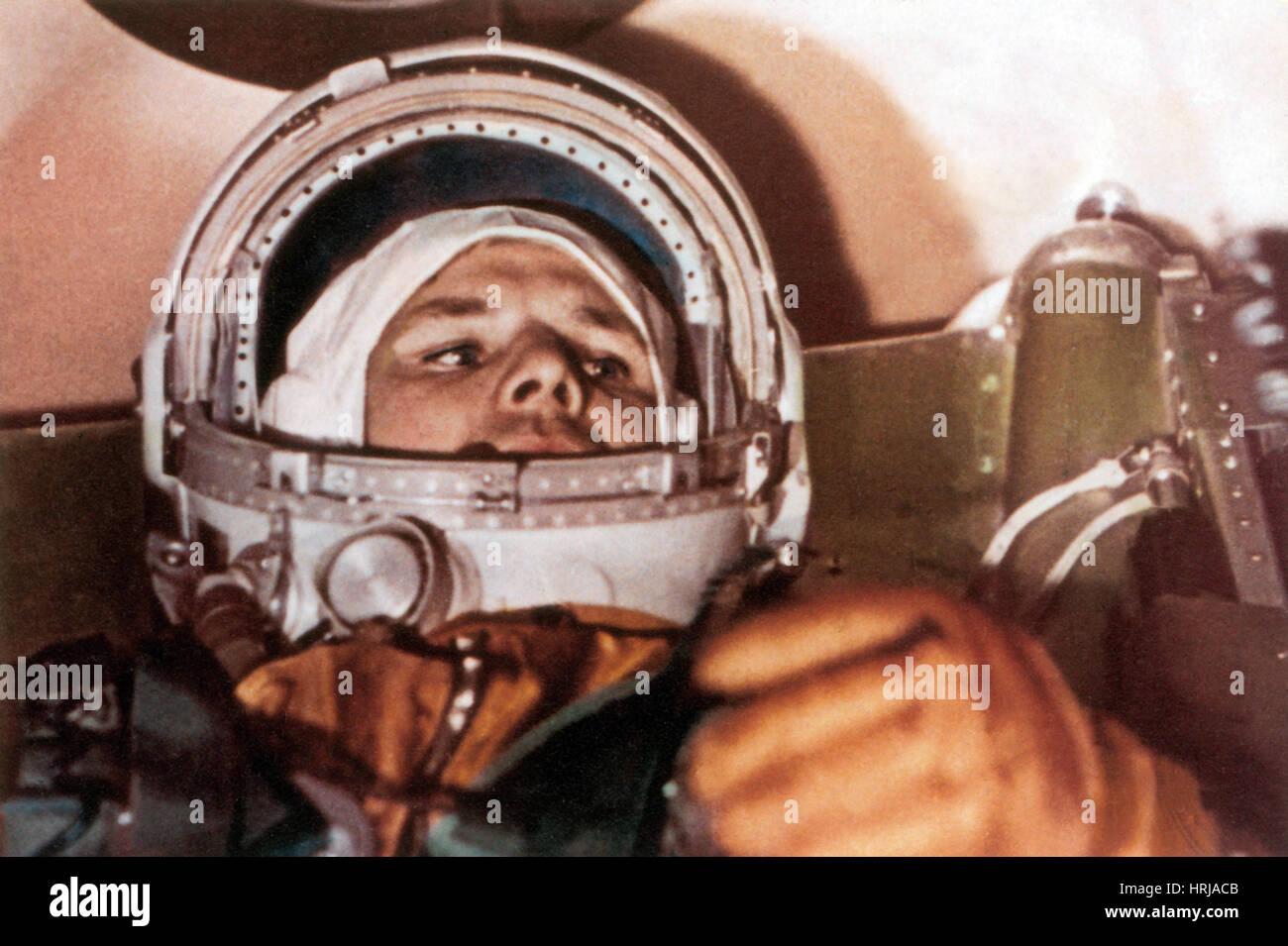 Yuri Gagarin, Vostok 1 Capsule, 1961 - Stock Image