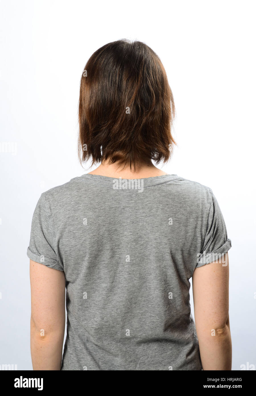 Woman With Back Turned - Stock Image