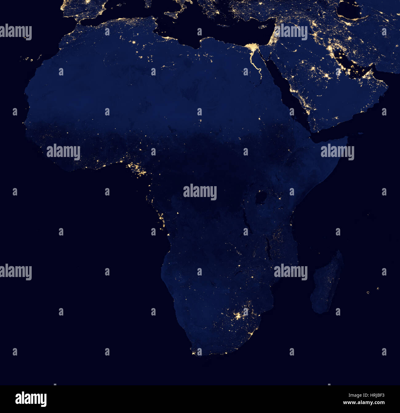 Africa at Night, 2012 - Stock Image