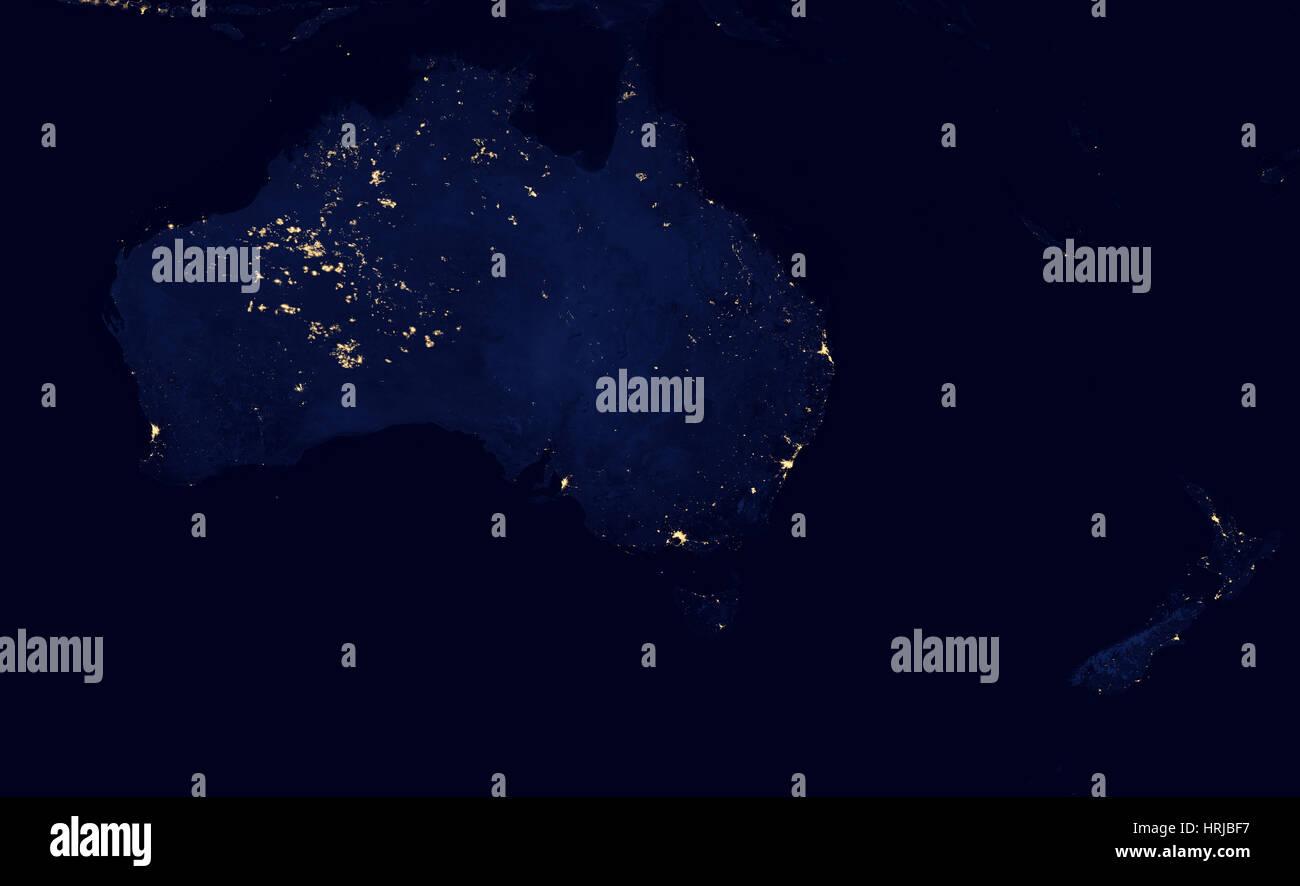 Australia at Night, 2012 - Stock Image