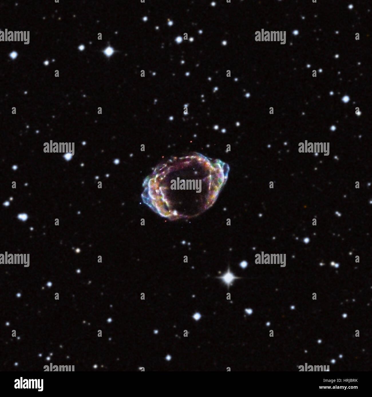 G1.9+0.3, Supernova Remnant, Composite Stock Photo