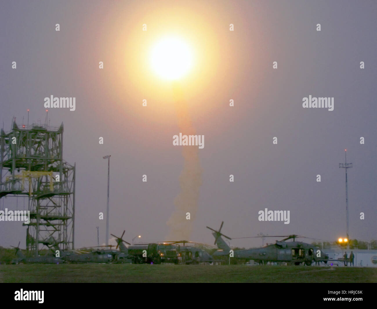 STS-119, Space Shuttle Discovery Launch, 2009 - Stock Image