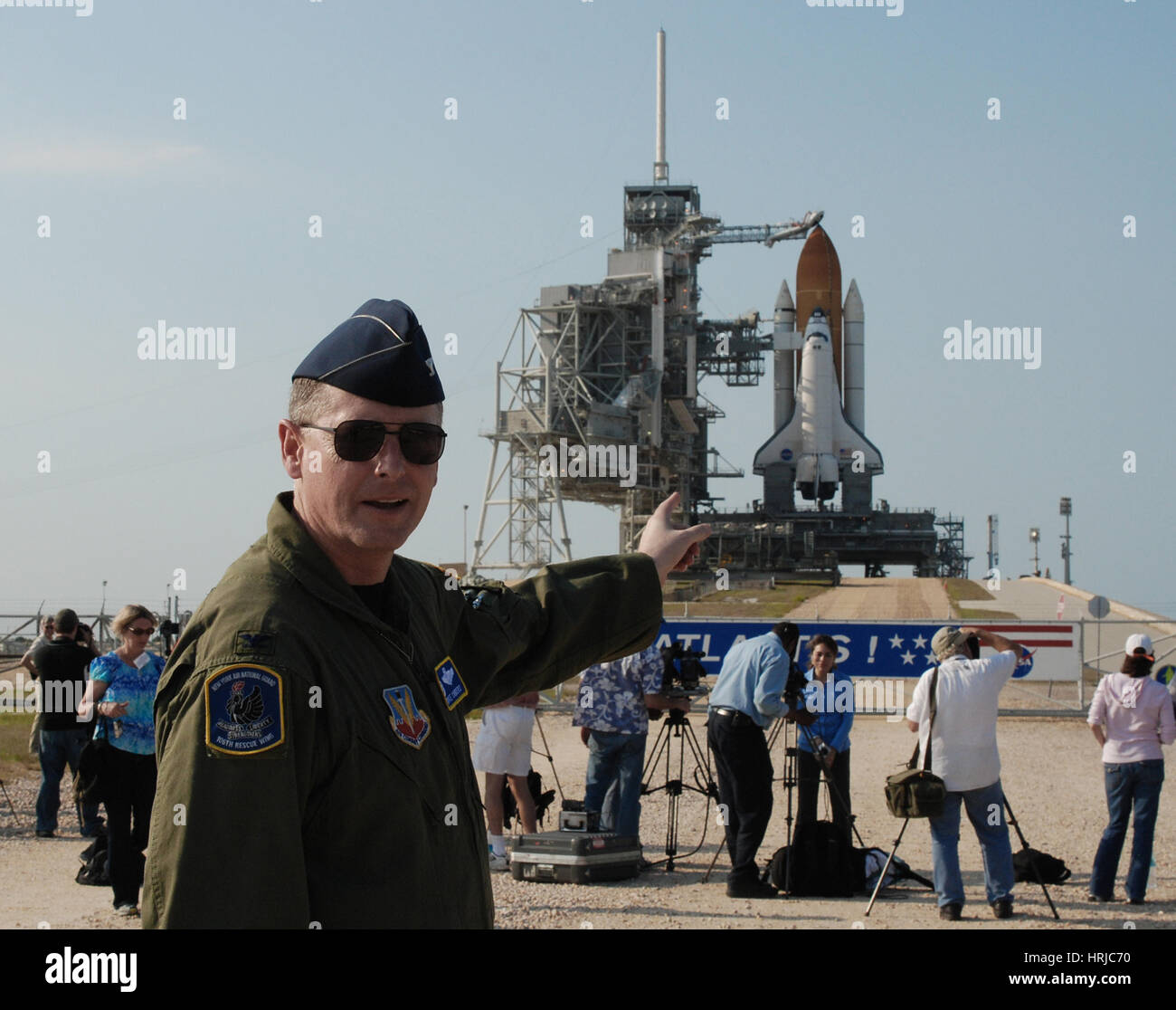 New York Air Guard at Shuttle Launch - Stock Image