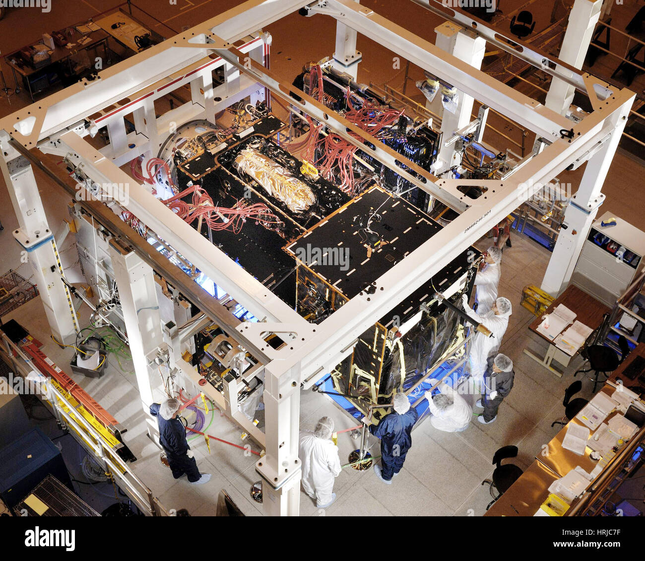 GEO-2 Satellite in Lab Stock Photo
