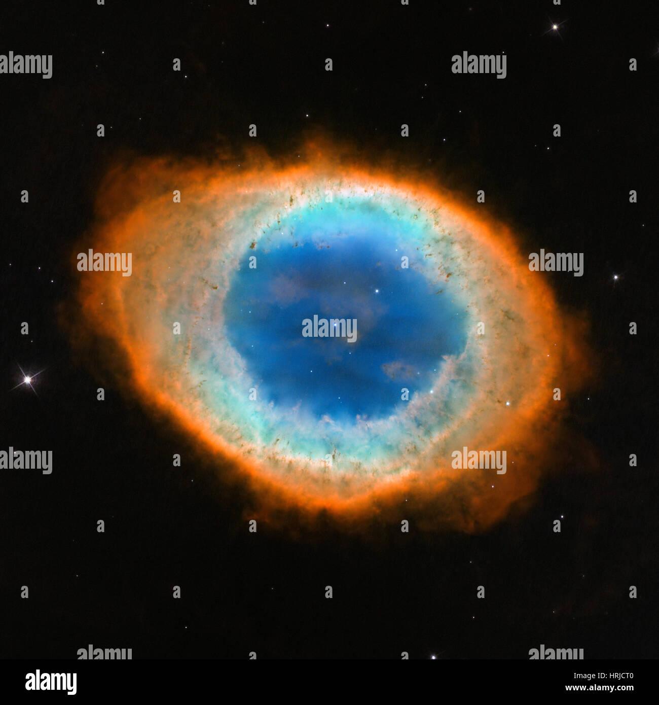 The Ring Nebula, Messier 57 - Stock Image
