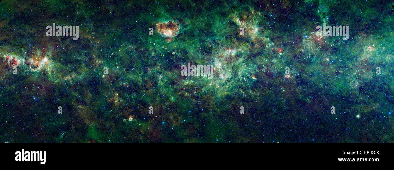 WISE Mosaic of The Milky Way - Stock Image