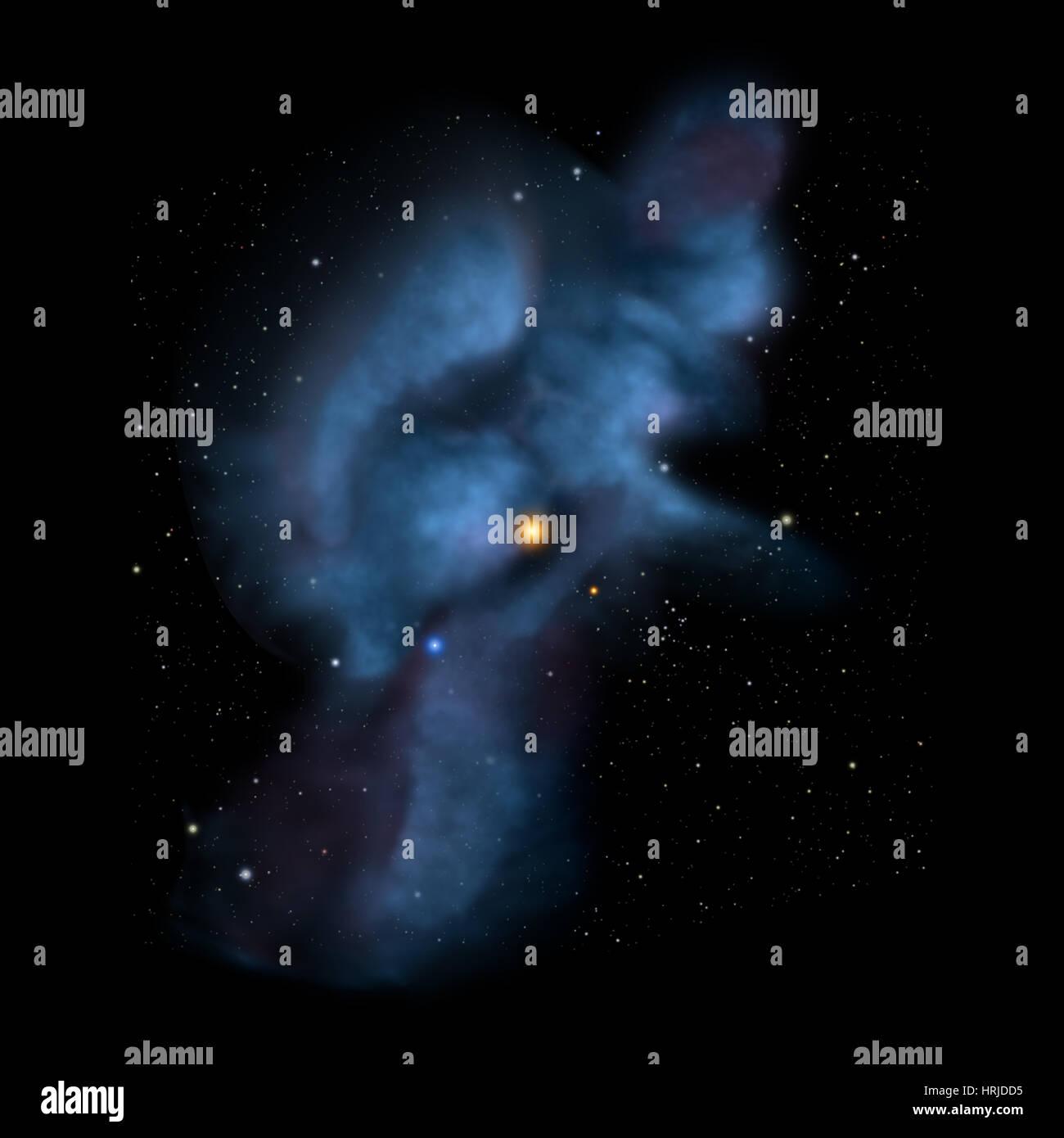 Solar Journey Through Interstellar Clouds - Stock Image