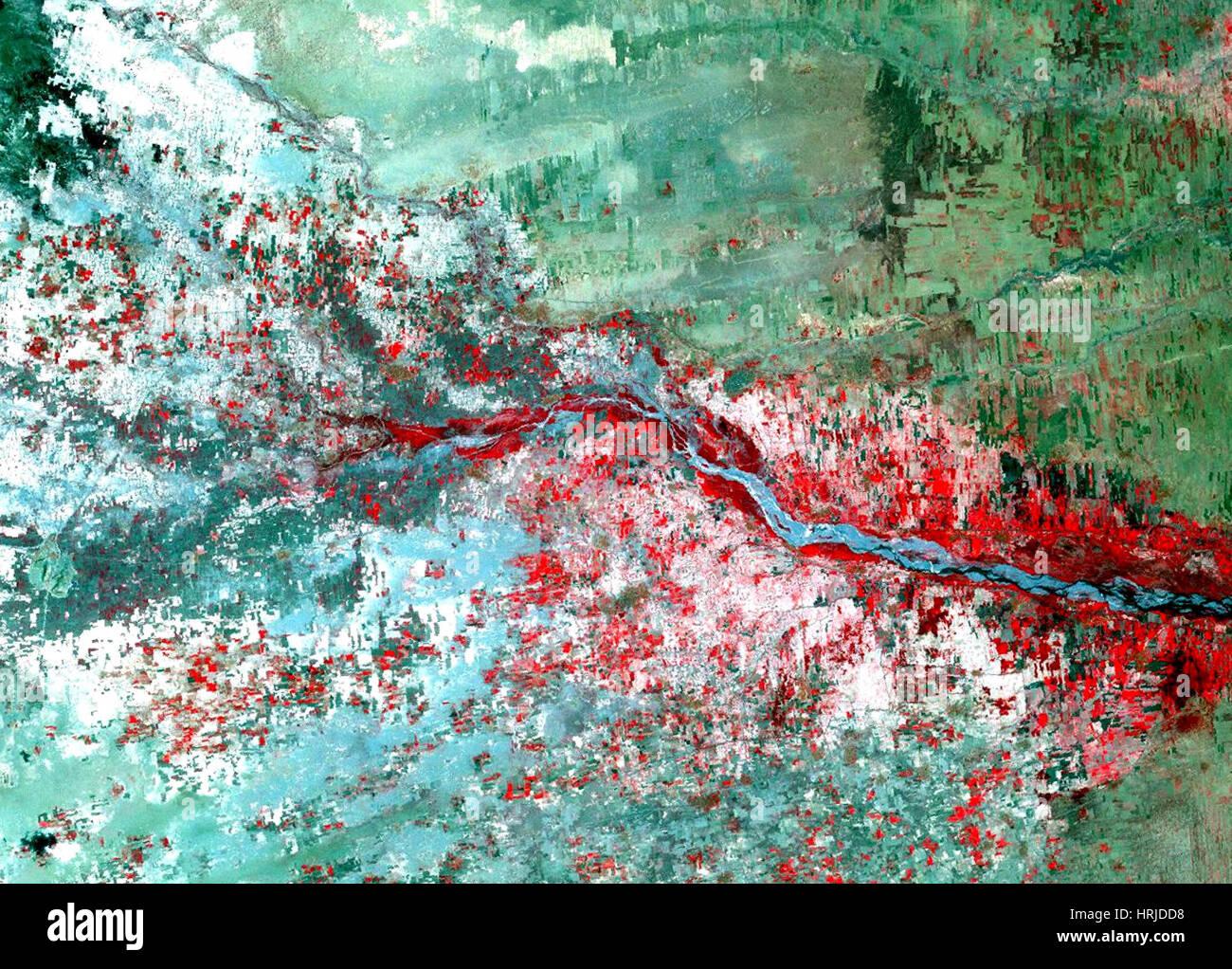 Rift Valley Flooding, Landsat, 2000 - Stock Image