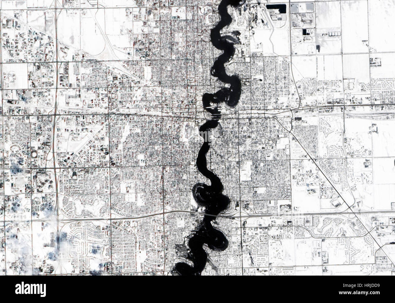 Red River Flood, ALI, 2009 - Stock Image