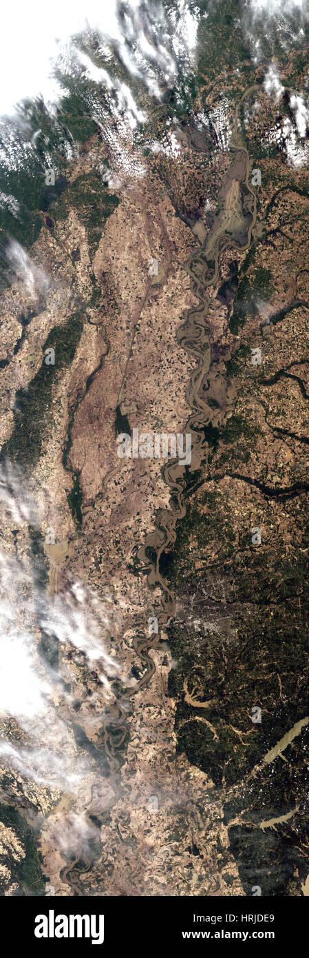 Mississippi River Floods, Landsat, 2011 - Stock Image