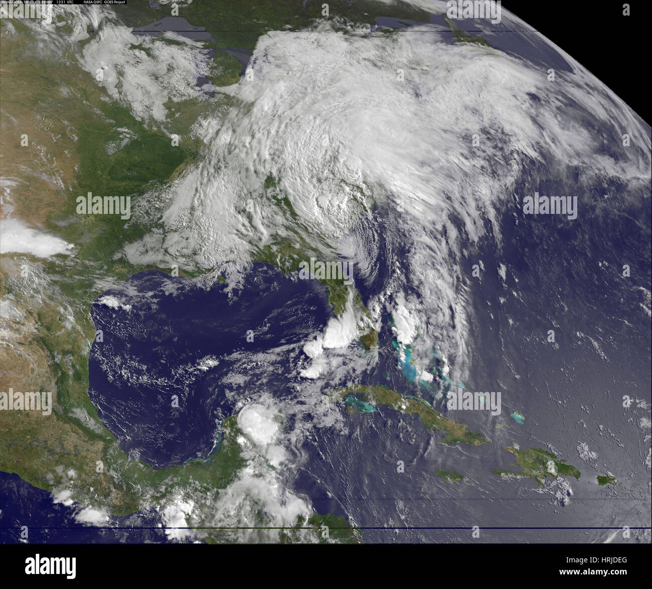 Tropical Storm Andrea, GOES, 2013 - Stock Image