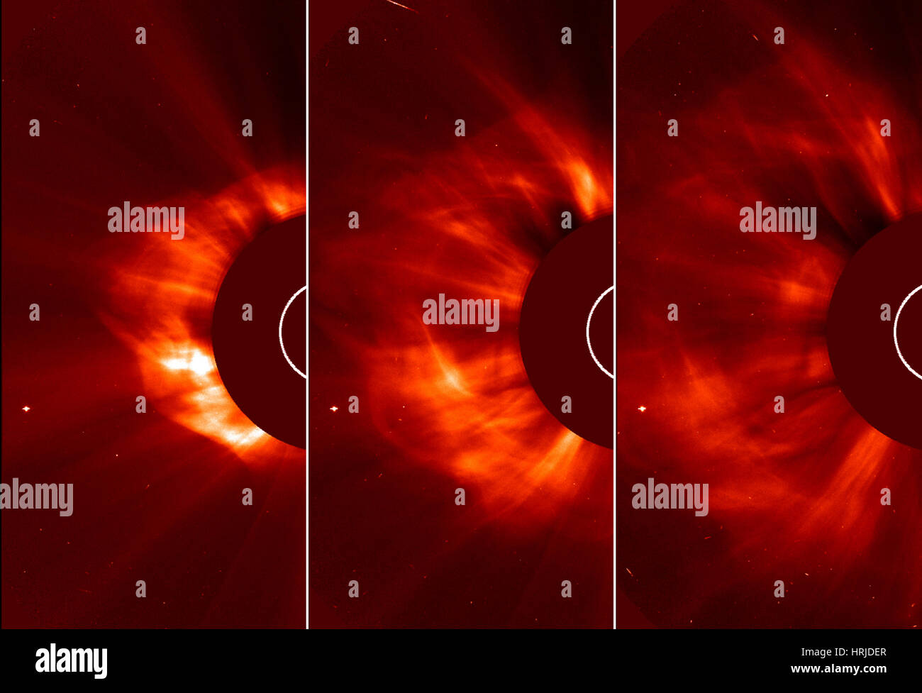 Sun Emits Coronal Mass Ejection, 2013 - Stock Image