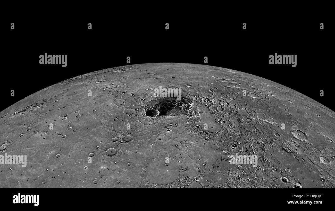 Mercury, Polar Region, Northern Exposure - Stock Image