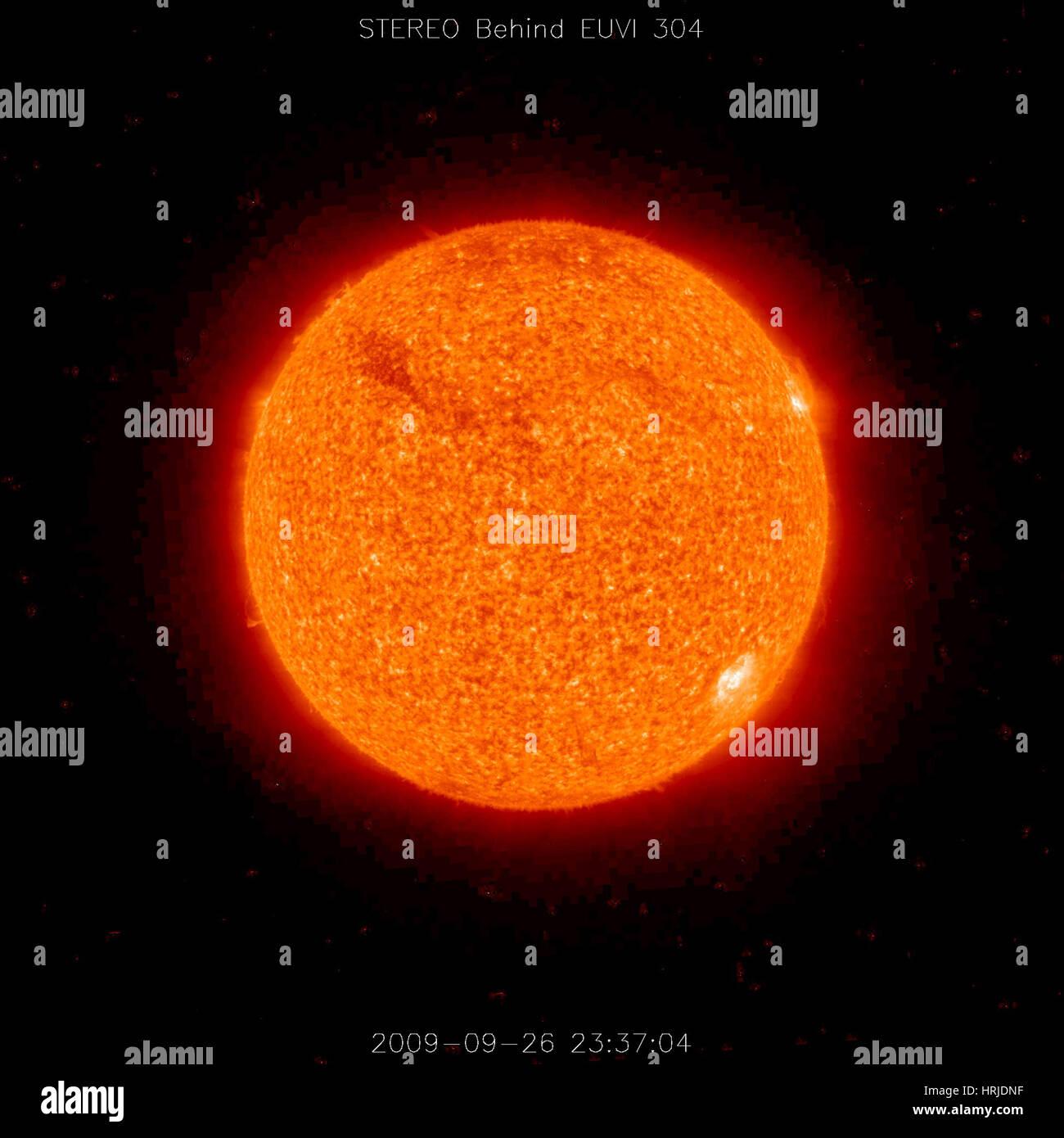 Solar Prominence, Ultraviolet, 2009 - Stock Image