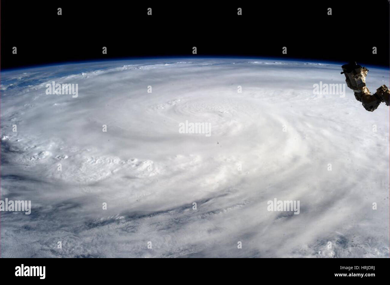 Typhoon Haiyan, ISS Photo, 2013 - Stock Image