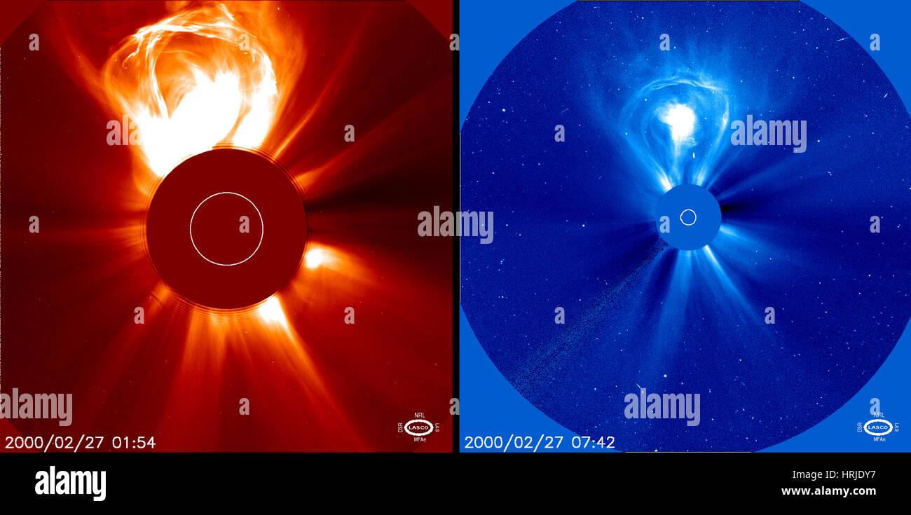 Coronal Mass Ejection, LASCO, 2000 - Stock Image