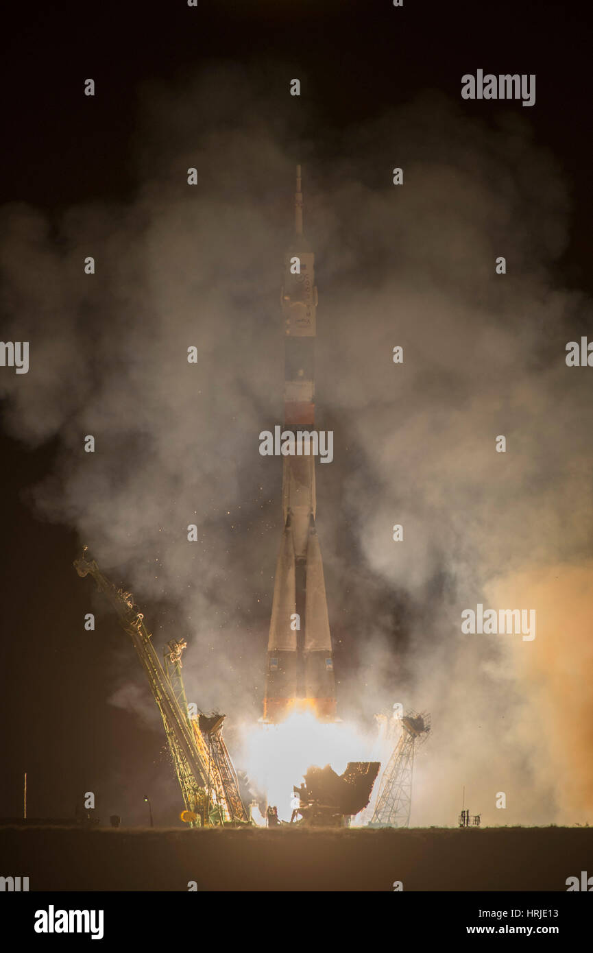 Soyuz Expedition 37 Launch - Stock Image