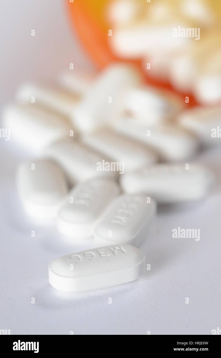 Hydrocodone/Acetaminophen - Stock Image