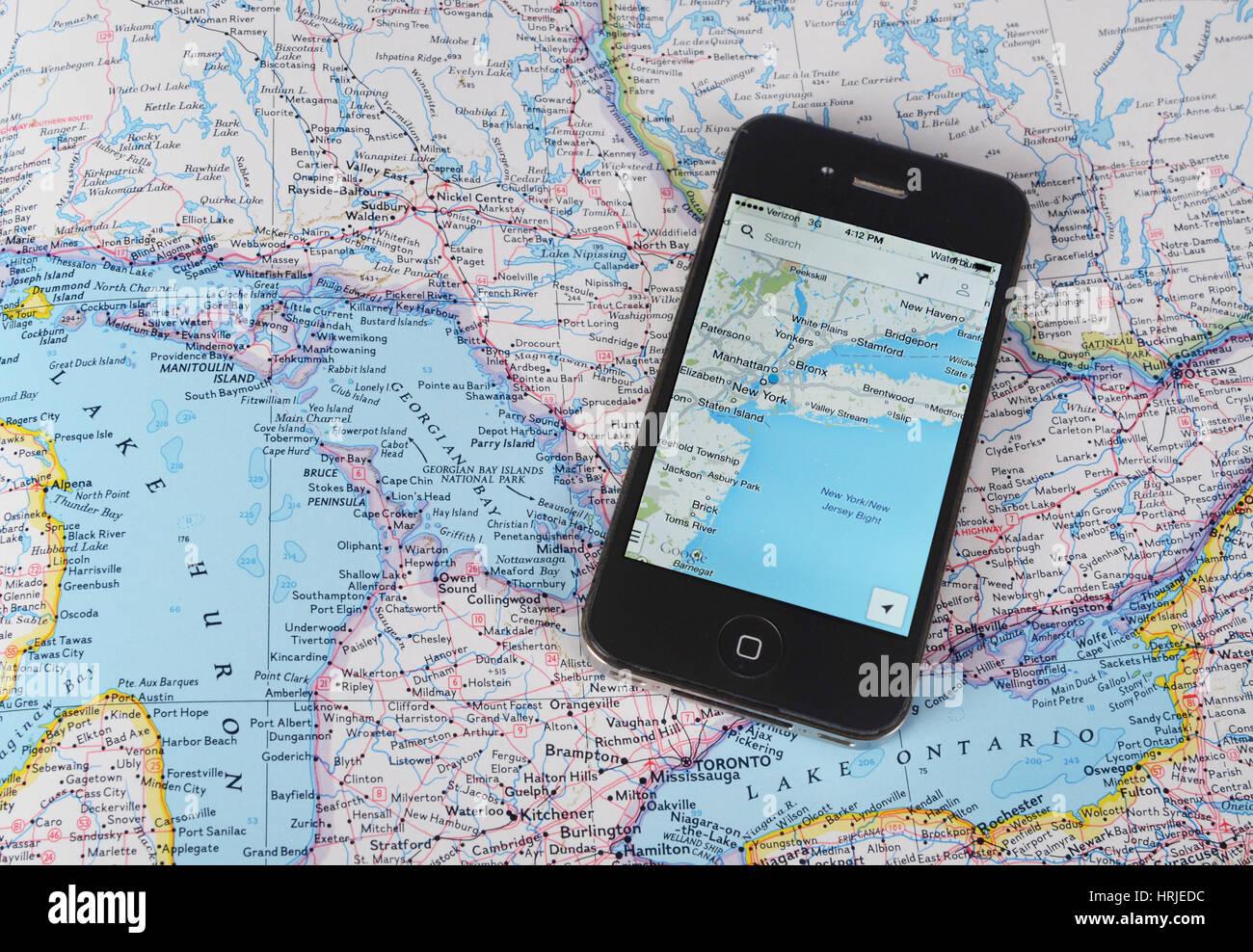 Maps - Stock Image