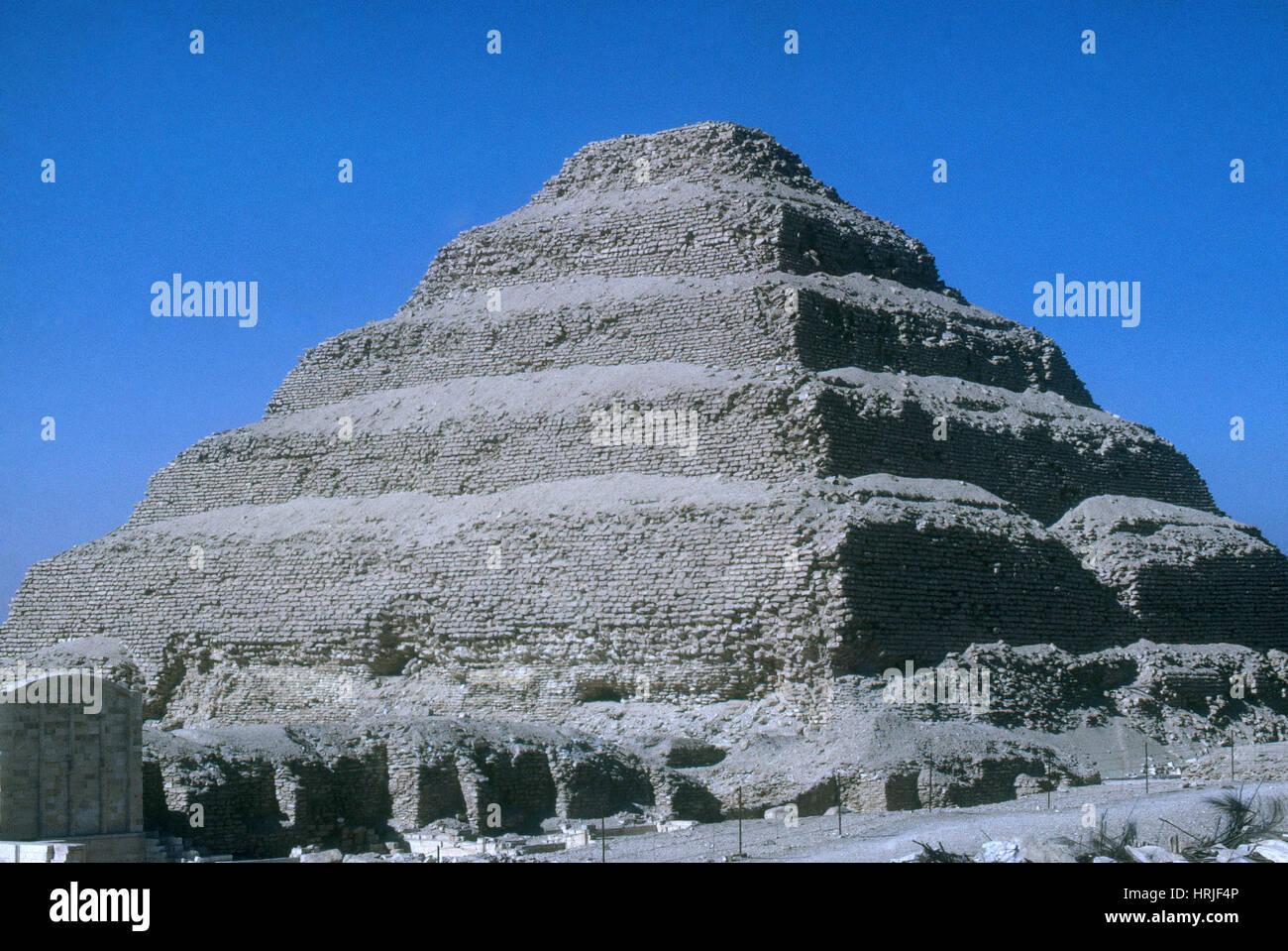 Step Pyramid of King Zoser - Stock Image