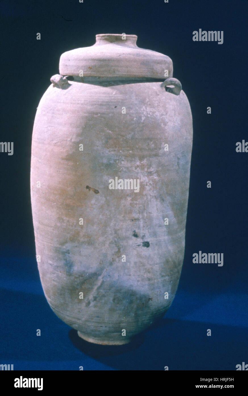 Scroll Jar - Stock Image