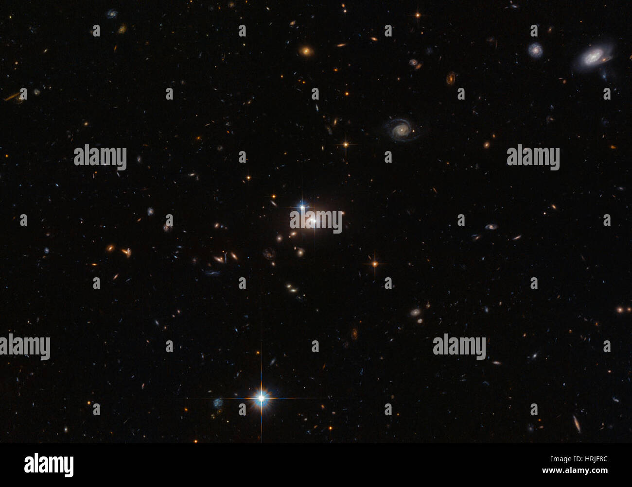 Twin Quasar QSO 0957+561 Stock Photo - Alamy